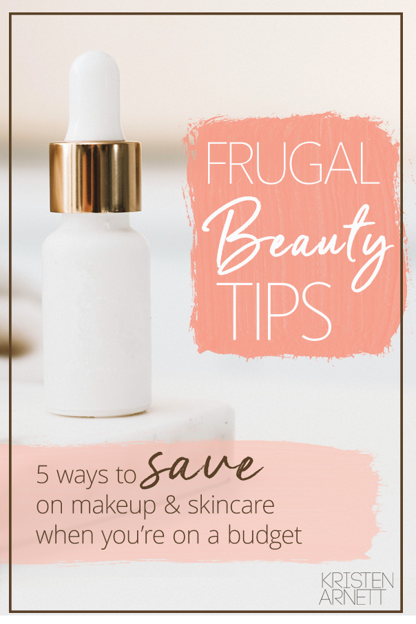 pinterest graphic for frugal beauty tips